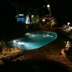 Pool at night.