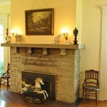 A Great Limestone Fireplace Mantle Cut From Local Limestone Formations