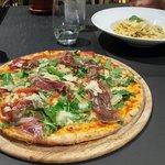 Pizza Ciutat Vella and Tagliatelle Carbonara (both very tasty)