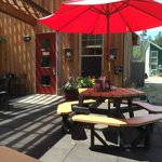 Great patio seating available