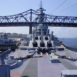 From the bow of the Battleship