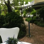 Black Pearl restaurant garden