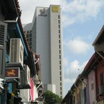view of the hotel from arab street
