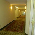 nice clean, well-lit hallway