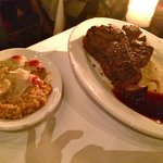 Dry aged steak for two and risotto