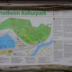 Map of Flam and walking track behind hotel