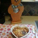 A peach cobbler welcome for our honeymoon.