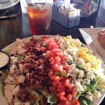 August lunch special $8.95 Fireside Cobb salad with Coke or tea. Larger portion is $14.95, but t