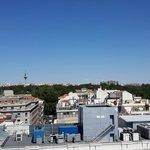 Vista de Madrid hacia el parque del REtiro