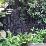 Wonderful wood carvings in the rainforest biome