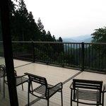 terrasse privée, vue de la chambre
