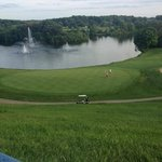 Our view of the golf course below-outside our room