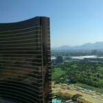 View of the Wynn from the Palazzo room, 33rd floor.