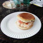 The fresh and delicious lobster roll at Waterman's.