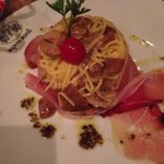 Taglierini with speck and truffle