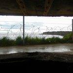 Inside a bunker, Pointe du Hoc