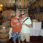 in the barrel room!