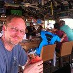 Enjoying a drink at the Bar