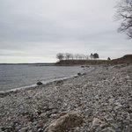 The beautiful rock beach
