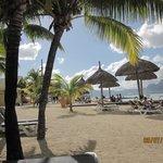 On beach at resort