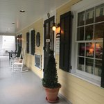 Restaurant porch entry - street side