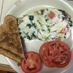 Egg white omelet with veggies