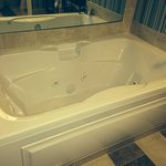 Double Sized Jacuzzi tub...outstanding!
