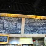 Pappy's menu board on Aug. 2, 2014