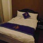 床的佈置還算舒適.