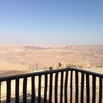 View of the Ramon Crater from our balcony