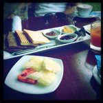 Breakfast is fresh and complimentary!!
