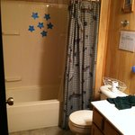 Bathroom (shower view) - Sulfur well water. Be prepared to stink.
