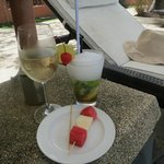 refreshments by the pool