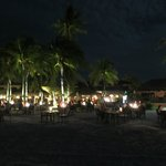 Night time dining on the beach