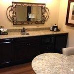 kitchenette/desk area
