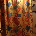 Bathroom curtain -- cute