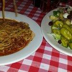 spaghetti & cold antipasto