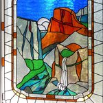 Stained glass of Yosemite Valley in the main building