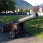 Cannon at top