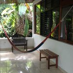 Porch area with hammock