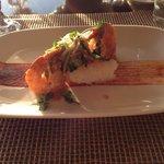 Jumbo prawns with crispy rice
