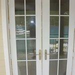 Painters Tape on Balcony doors