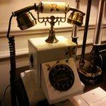 Neat old school phones in each room