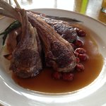 Rosemary Lamp chops with a Cherry Reduction Sauce