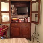 Bedroom Hutch with mini TV