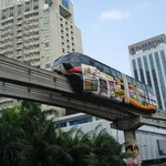Monorail outside Hotel