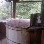 awesome wood fire hot tub