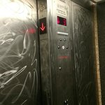 Hideous elevator at Motel 6 Denver South