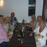 Six happy diners