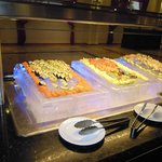 Sushi in the buffet restaurant